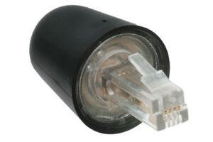 Telephone Handset Phone Coil Cord Swivel Twist Top Untangle Detangler - Black