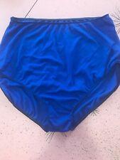 Vintage Designs For Dance Xla Panty Panties Blue Women's Grip Rubber Trim