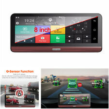 7.84'' 4G Car Dash Dual Camera DVR ADAS WiFi Bluetooth GPS Video Recorder + Map