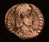 CONSTANS II IMPERIAL ROMAN COIN  - VERY FINE - AE3