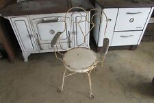 Vintage Twisted Iron Cafe Restaurant Chair with Wooden Arms #1761P