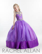 Pageant/ wedding/ gown for girls Rachel Allan Perfect Angels 1615 purple