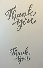 Thank you text wordl A4 Mylar Reusable Stencil Airbrush Painting Art Craft