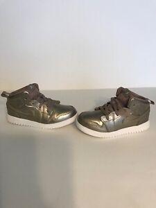 "2018' Nike Air Jordan 1 Mid ""Sepia Stone"" Edition Infant Toddler Basketball"