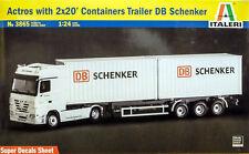 ITALERI 1:24 KIT TRUCK CAMION MERCEDES ACTROS  DB Schenker  3865
