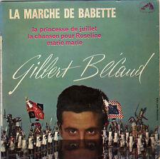 GILBERT BECAUD LA MARCHE DE BABETTE FRENCH ORIG EP RAYMOND BERNARD