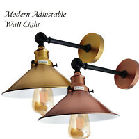 Modern Vintage Industrial Indoor Wall Light Fitting Polished Colour Lounge Lamp