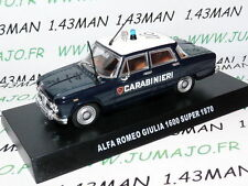 voiture POLICE 1/43 CARABINIERI : ALFA ROMEO Giulia 1600 super 1970