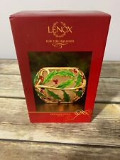 """Lenox Holiday Gold Votive Candle Holder Christmas 4"""" New in Box"""