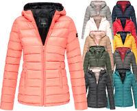 Marikoo Lucy Damen Frühlings Jacke Steppjacke Übergangsjacke sehr  leicht Kapuze