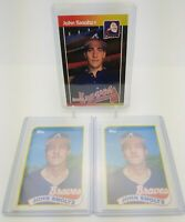 1989 Topps & Donruss JOHN SMOLTZ Rookie RC Cards Lot of 3 Atlanta Braves NM - MT