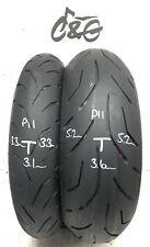 Bridgestone S20 120/70zr17 & 190/50zr17 Pair Part Worn Motorcycle Tyres P11