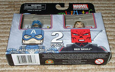 Minimates Marvel Captain America + Red Skull Set! New! Sealed!