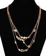 Alexis Bittar Multi Strand Gold Womens Pendant Necklace 0353