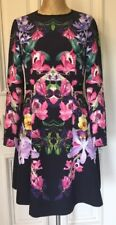 Ted Baker -toona Lost Garden Long Sleeve Dress Women Multicolored Size2 USA 6
