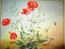 The Elf and The Poppy Large watercolor print *SIGNED* 21 x 17 BEAUTIFUL!