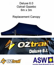 6m x 3m BLUE Gazebo Replacement Canopy suits OZTRAIL DELUXE 6.0 Frame Pavilion
