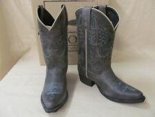 Smoky MT Youth 2.5 M Charcoal Bonanza Cowboy Boots Western Toe Block Heel