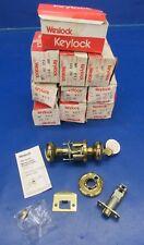 Weslock Impresa 640 Polished Brass Lock w/2 Keys LOT OF 10 NOS (1218-270)