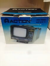 """NEW Action ACN-7205v 5.5"""" B/W TV Rare Complete"""