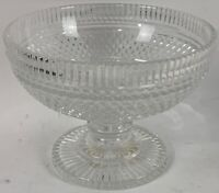 "WATERFORD Crystal CASTLETOWN Cut 8"" Center Footed Bowl $1000+ Retail"