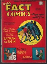 "REAL FACT COMICS #5 DC 11/46 ""TRUE"" STORY OF BATMAN & ROBIN COVER + TOM MIX FNVF"