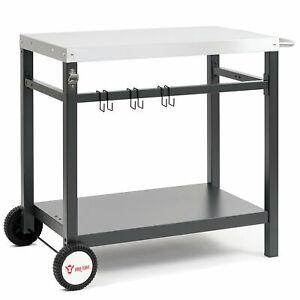 BBQ-Toro Grillwagen 85x50x81cm   Beistelltisch   Rollwagen zum Grillen   Outdoor