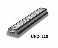 10-Port Powered Hi-Speed USB 2.0 Desktop Hub - Manhattan 161572, UH2-IL10