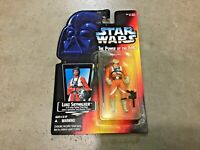 Vintage 1995 Star Wars POTF red card Luke Skywalker in X-Wing Fighter Pilot gear