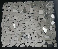 200 Pieces, Offcuts Silver Glass Mirror. 1 mm Thickness. Art&Craft,