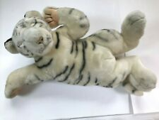 "SNORING 17""  WHITE TIGER CUB PLUSH SOFT CUDDLY TOY"
