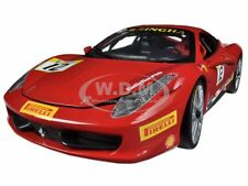 FERRARI 458 CHALLENGE RED #12 1/18 DIECAST MODEL CAR BY HOTWHEELS BCT89