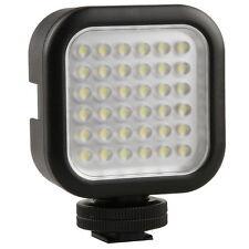 "Hot Shoe 36 LED Video Light Lamp for Canon Nikon DV Camcorder Camera w 1/4"" Hole"