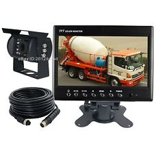 "7"" REAR VIEW BACKUP CAMERA CAB OBSERVATION SYSTEM FOR OVERSIZE TRUCK LOADER FARM"