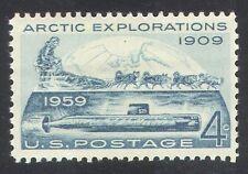 USA 1959 Peary/Polar/Submarine/Explorer/Map/Dogs/Transport/Animals 1v (n24158)