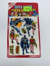 1981 DC Comics Super Heroes Puffi Stickers Batman And Robin!!!!