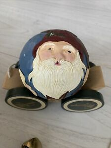 Briere roly poly Santa 1989 hand painted Golfer Toy With Original Box Pre-owned