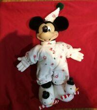 "Applause Vintage 1976 Mickey Mouse in Christmas Pajamas PJs Suffed Doll RARE 12"""