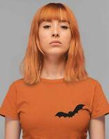 Halloween Shirt Bat Pocket T-Shirt Cute Pocket With Bat Shirt Bat Halloween C...