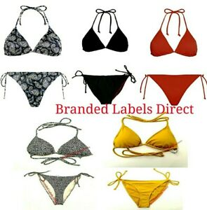 Primark Ladies Bikini Top Bottoms Swimwear Women's Basic Summer Swimwear