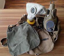 Konvolut Gas-Maske ABC NVA DDR Armee Soldaten USA Uniform Kopfbedeckung Tasche