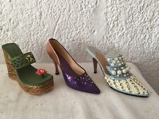 Lot 3 Chaussures Miniature Deco Just The Right Shoe By Raine Collection