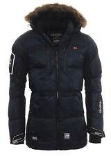 Geographical Norway Cálido forrado hombre Alaska chaqueta de invierno Parka L azul marino Donone