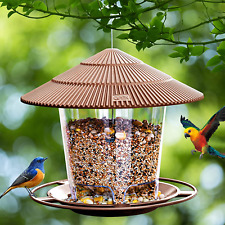 New listing Bird Feeders for Outside, Wild Bird Seed, Squirrel Proof (Brown)