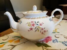 Pretty Vintage Royal Grafton pink flower Bone China medium 1.5 pint teapot