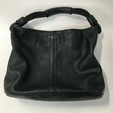 OROTON Slouchy Soft Black Pebble Leather Hobo Shoulder Bag Silver Hardware #8689
