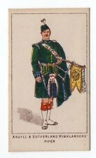 Trade Card Kings Specialities War Series Argyll & Sutherland Highlanders Piper