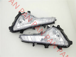Pair front Fog Driving Lights bumper Left Right lamp for 2014-2015 KIA Sportage