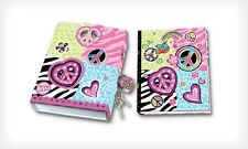 Lock Keys Diary Journal Notebook Heart Shaped Glitters Gift Kids Teen Girls Book