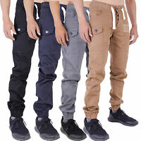 Mens Cuffed Joggers Jeans Chinos Combat Cargo Shaf by AD Waist 28-40 42 44 46 48
